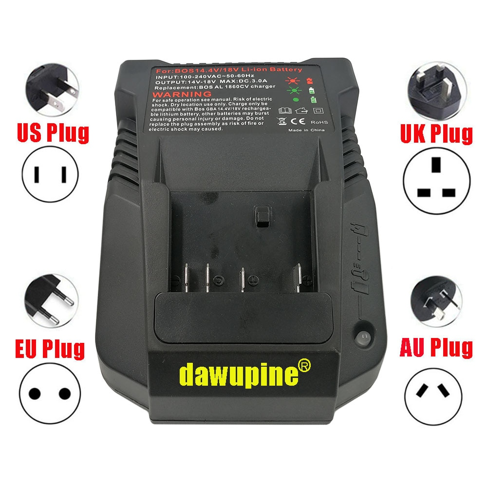Dawupine 1018K شاحن لبوش الكهربائية الحفر 18V 14.4V بطارية ليثيوم أيون BAT609 BAT609G BAT618 BAT618G BAT614 2607336236