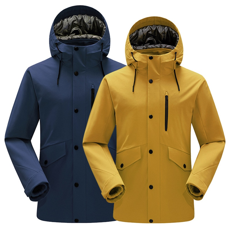 Лыжная куртка мужская зимняя плотная теплая ветрозащитная Водонепроницаемая спортивная зимняя куртка для улицы горячее лыжное снаряжение...