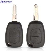 Jingyuqin 2 boutons à distance voiture clé coque couverture Fob étui pour Vauxhall/Opel Vivaro/ Renault Movano Trafic Renault Kangoo blanc