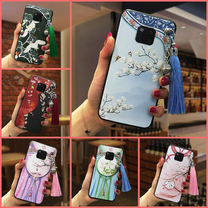 Dirt-resistant For Girls Phone Case For Huawei Mate 20 Pro For Woman Chinese Style Soft Silicone