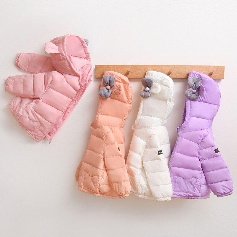 Nfant Baby Girls Otoño Invierno chaqueta de flores abrigo niños Abrigo con capucha ropa de abrigo niñas abajo Parka ropa