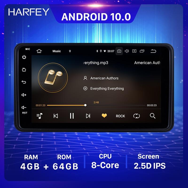 Harfey 7 Polegada 4 + 64gb android 10.0 rádio estéreo do carro para suzuki jimny 2006 2007-2012 1din unidade principal gps carro multimídia jogador wifi