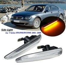 63137164757 auto Seite Marker LED Fließende Blinker Licht Blinker Anzeige für BMW E65 E66 E67 2001-2008