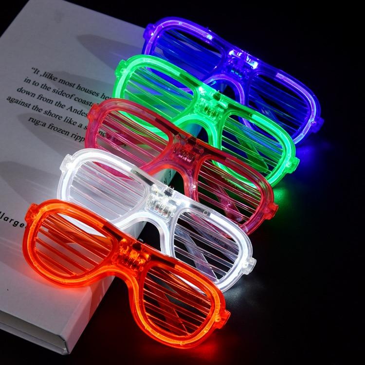 Ставни EL светящиеся очки светильник ка Хэллоуин светящиеся неоновые светящиеся солнцезащитные очки унисекс подарок игрушка очки