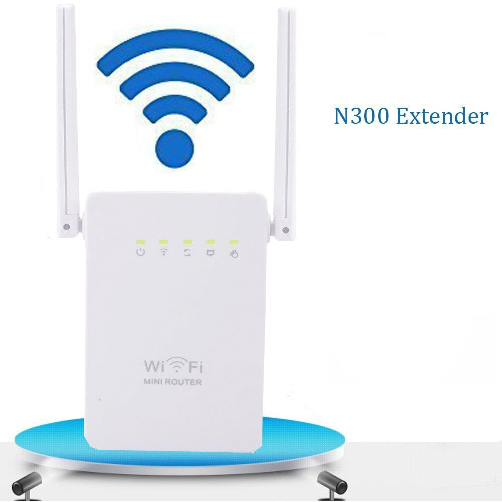 The New Dual-antenna Dual-port WIFI Repeater Home Office Signal Wireless Amplifier for 300M Wireless Repeaters.