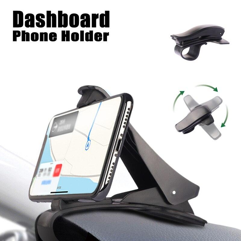 Автомобильный держатель для телефона на приборную панель, Универсальный простой зажим, подставка, GPS-дисплей, автомобильный держатель, подд...