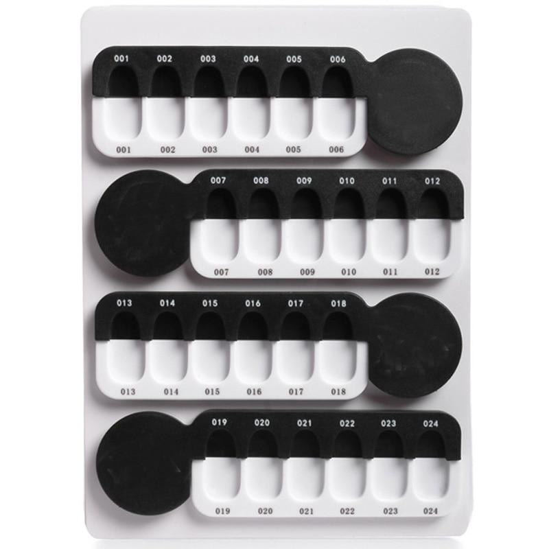 Nagel Farbe Karte 24 Acryl Nail art Polnischen Gel Display Probe Nagel Clip Palette Praxis Werkzeug