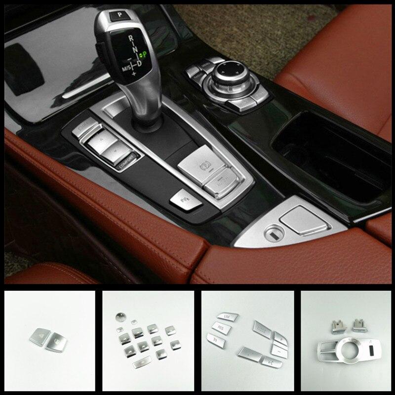 CNORICARC כרום ABS רכב פנים כפתורי פאייטים קישוט כיסוי לקצץ מדבקות עבור BMW 5 סדרת f10 f18 520 525 528 530 2011-17
