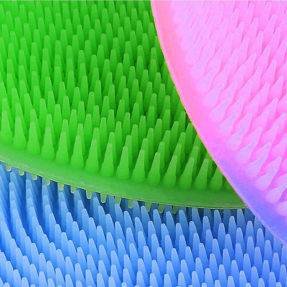 Купить с кэшбэком Multi-Purpose Dishwashing Silicone Cleaning Brush Heat-Resistant Mat Dish Towel Washing Rags Kitchen Tools Kitchenware Dishcloth