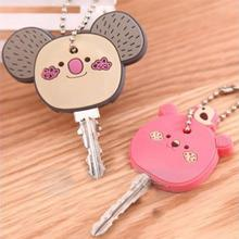 New Fashion Cute Animal Soft Key Top Head Cover Chains Cap Keyring Phone Strap DIY Key Wallet Key Ho