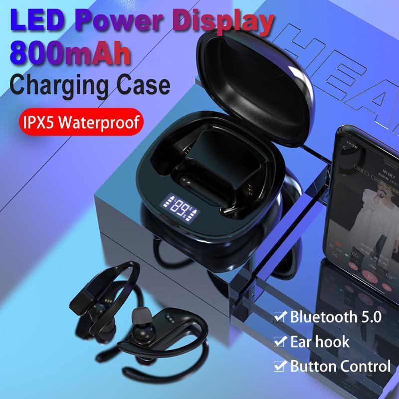 EastVita T11 TWS Bluetooth 5,0 наушники стерео беспроводные наушники Спортивная гарнитура водонепроницаемые наушники с 800 мАч зарядный чехол
