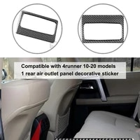 carbon fiber sturdy fine workmanship rear air outlet cover compact air vent sticker perfect match