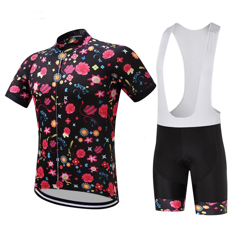Fashion Cycling Jersey Sets Summer Breathable Bike Clothing for Men Bicycle Short Sleeve Pants Pro Team Uniform Bib MTB Suit