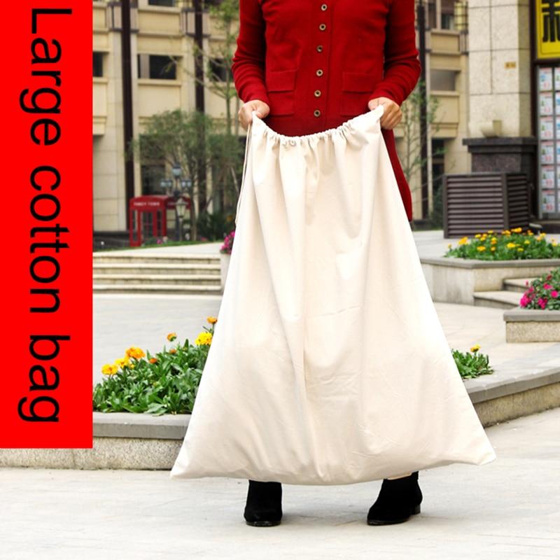 New arrival high quality large cotton drawstring storage bags 50x70cm,90x92cm
