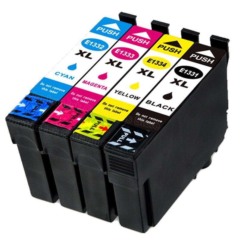 E1331 E1332 E1333 E1334 8Pack (2B + 2C + 2M + 2Y) cartucho de tinta Compatible para EPSON StylusT22 T25 TX120 TX123 TX125 TX235 TX235W