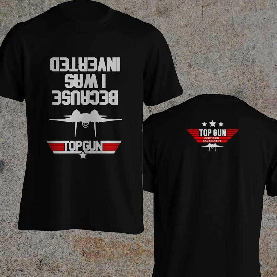 Camiseta negra de Tom Cruise de la película inspirada en la mejor pistola de consultoría certificada Top Gun 2020