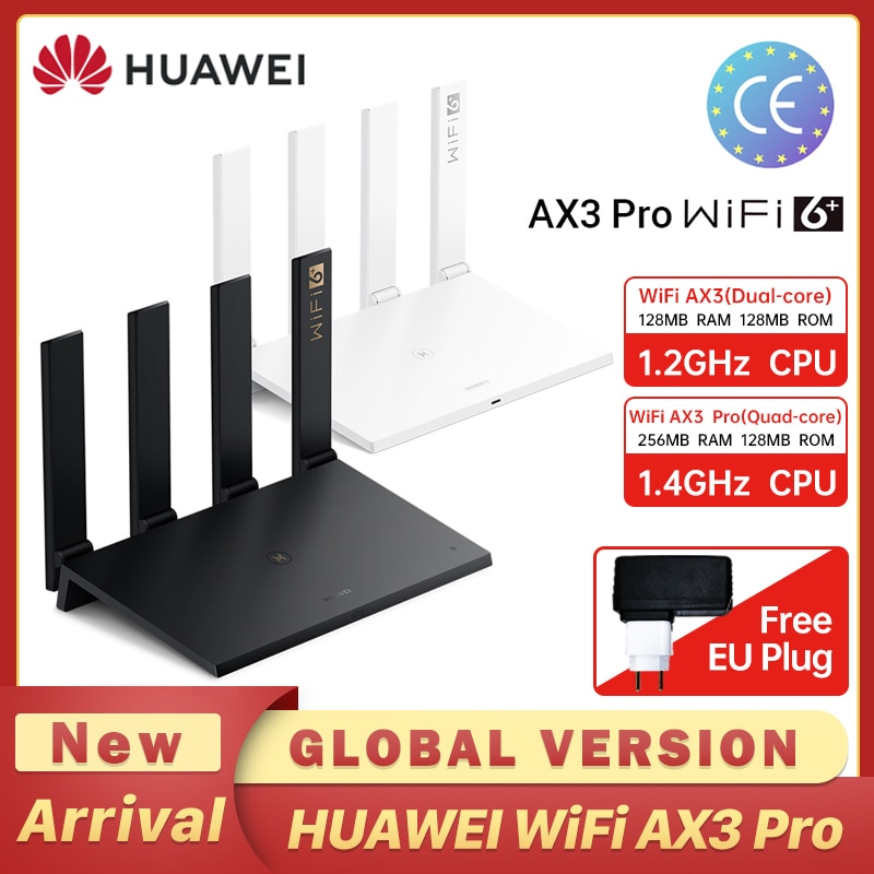 Global Version HUAWEI AX3 Pro  Router Dual-core Quad Core WiFi 6 + Router 3000 Mbps Tap to connect Easy Set up