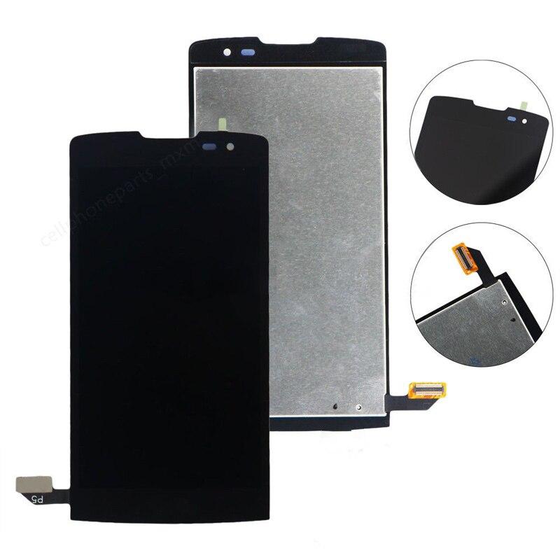 100% probado de alta calidad para LG Leon H340 H345 H340N H324 MS345 pantalla LCD MONTAJE DE PANTALLA TÁCTIL Negro Blanco, No/con marco