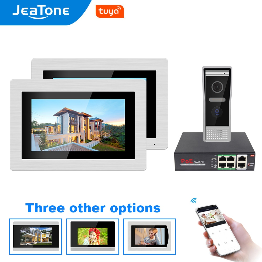 Jeatone 7 inch Tuya WiFi SIP Video Door Phone Intercom for Villa Access Control System with Motion Detection and Custom Ringtone