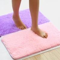 absorbent microfiber bath mat 40x60cm soft hair bath mat shower mat living room mat bathroom door mat kitchen mat