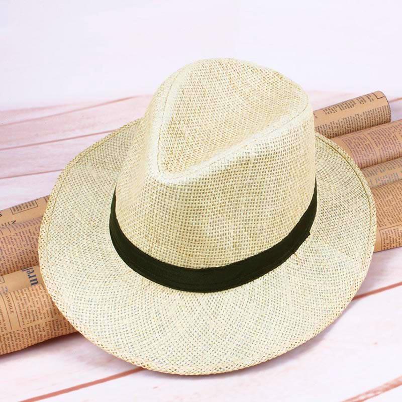2020 nuevo sombrero de paja panamá para hombres sombrero de ala ancha hecho a mano sombrero de vaquero sombrero de verano playa sombrero de Sol de viaje