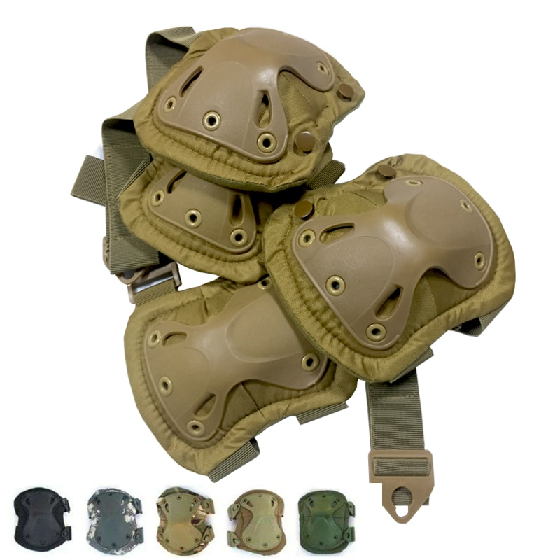 Tactical Knee Pad Elbow Military Protector Army Airsoft Outdoor Sport Working Hunting Skating Safety