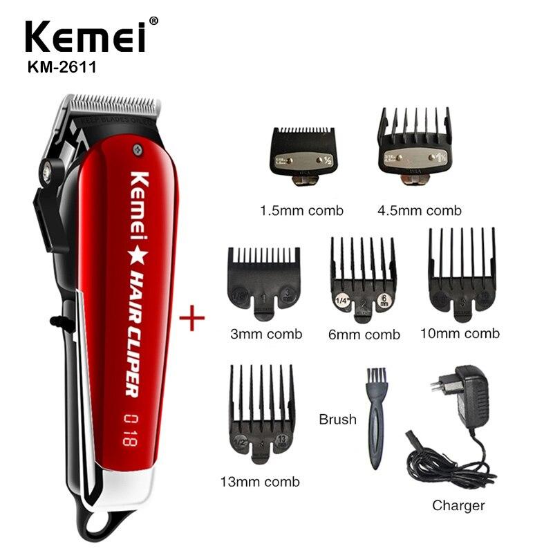 Kemei Professional Lelectric Maquinilla de cortar el pelo de barbero potente máquina cortadora de pelo para hombres cortador eléctrico 9W Máquina para cortar cabello