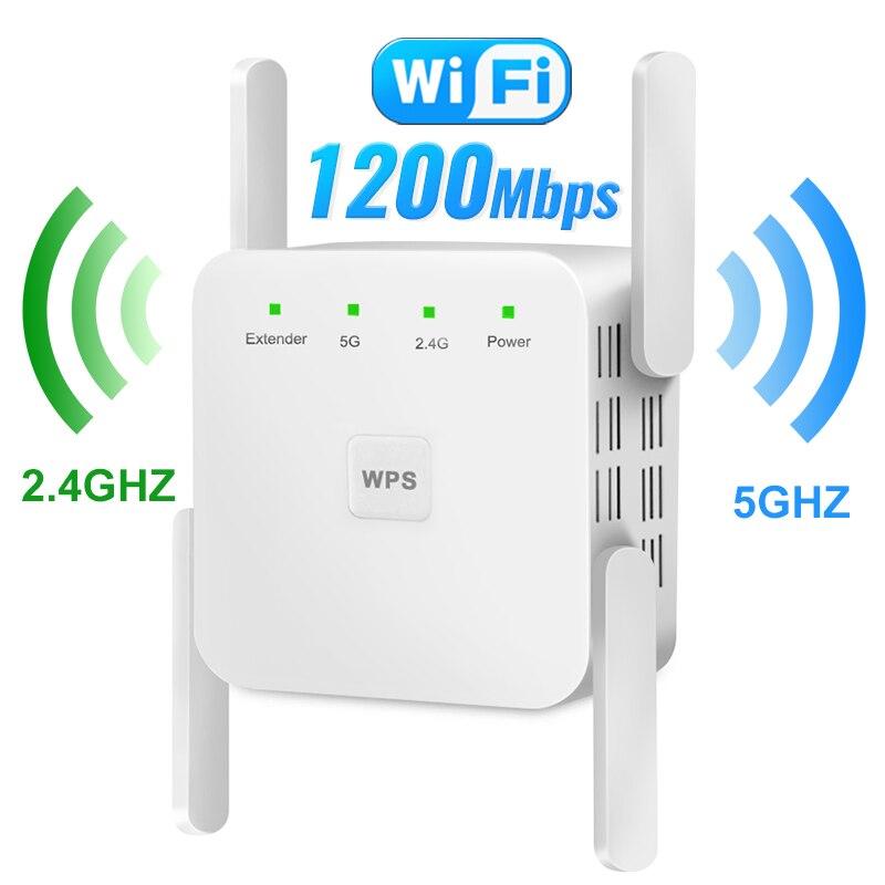 مكبر للصوت واي فاي 5G مكرر لاسلكي واي فاي مقوي إشارة واي فاي للمنزل 2.4G راوتر واي فاي طويل المدى موسع مكبر للصوت الانترنت