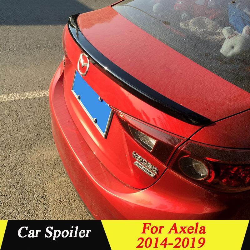 High Quality ABS Plastic Spoiler Primer Color Car Tail Wing Rear Trunk  Spoiler For Mazda 3 Axela 2014 2015 2016 2017 2018 2019