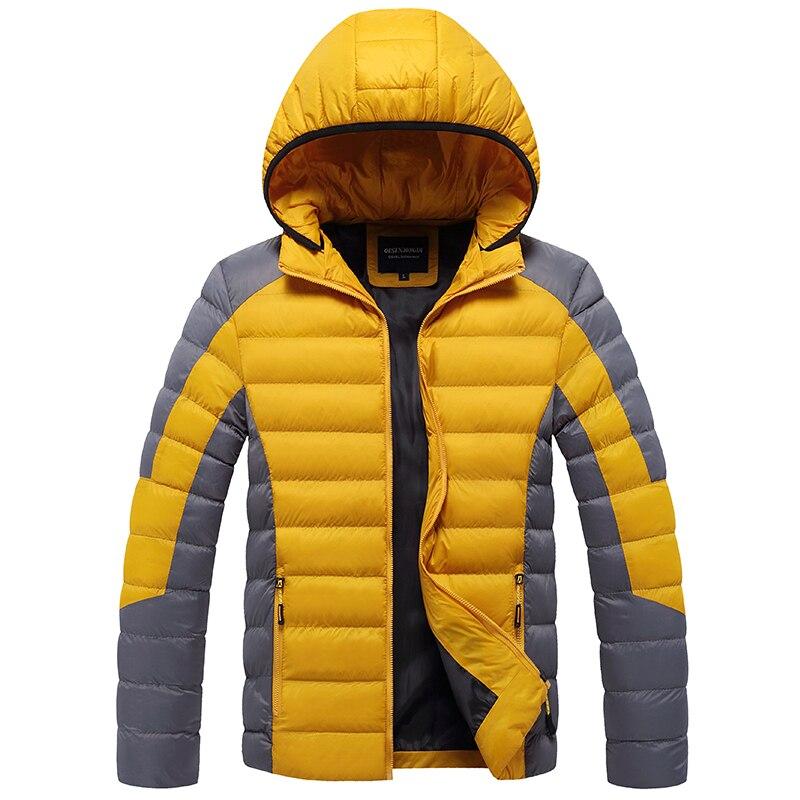 Новинка 2021, Зимние Теплые повседневные куртки, мужские осенние толстые парки с подогревом, Мужская модная уличная одежда, ветрозащитная оде...