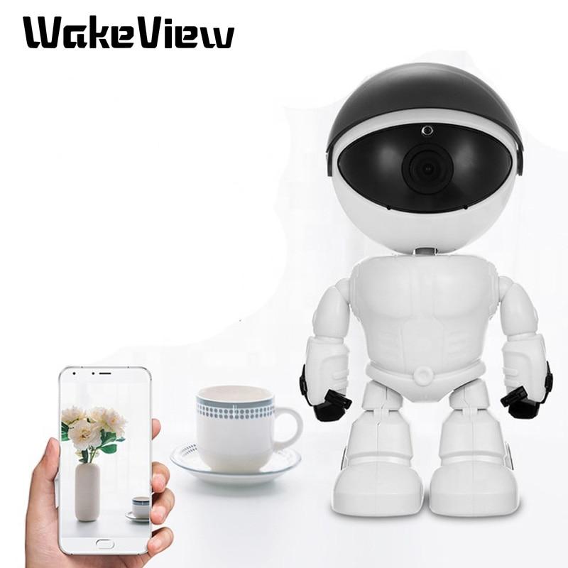 WakeView Roboter Drahtlose P2P Wolke Technologie IP WIFI Kamera Nachtsicht Mutiple Sprachen Remote Überwachung Alarm IOS Android
