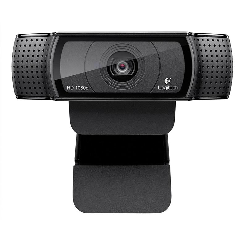 لوجيتك-كاميرا ويب C920 Pro ، كاميرا ويب ذكية عالية الدقة 1080 بكسل ، شاشة عريضة ، سكايب ، مكالمة فيديو ، كمبيوتر محمول ، Usb ، كاميرا 15 ميجابكسل