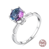 new real 925 sterling silver finger ring multicolor topaz wedding rings fine jewelry ornament fashion accessories wholesale
