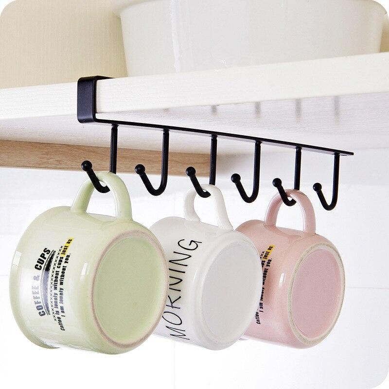6 ganchos soporte de taza colgador de puerta colgador de ropa colgador de plástico para almacenamiento en casa ganchos de organización