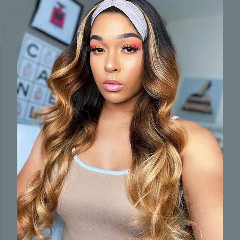 BLG-شعر مستعار برازيلي مموج طبيعي ، شعر ريمي عالي الجودة ، مظلل ، عقال ، كثافة 150% ، للنساء الأفريقيات