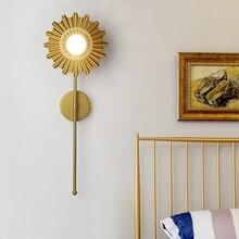 Nordic Luxury Gold Lustre Background Decorative Wall Light Metal Iron Art Light Fixtures Living Room Hallway Stairs Bedroom Lamp