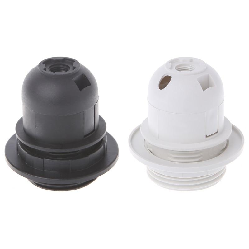 E27 патрон лампы Эдисона винт крышка гнездо белый/черный подвесной потолочный светильник