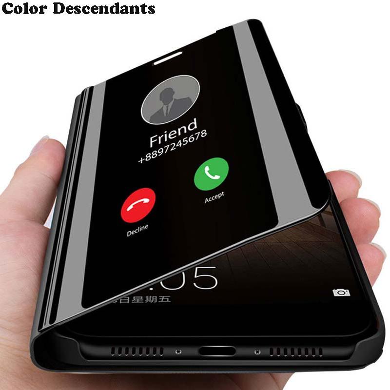 Capa flip inteligente para xiaomi, capa espelho para xiaomi redmi note 8 t, luxo, original, magnético, mi note8t 8 t on 360 capa do telefone