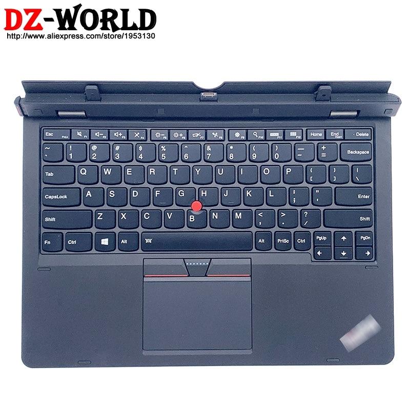 لوحة مفاتيح قاعدة إنجليزية أمريكية لرسو السفن مع بطارية لوحة اللمس لأجهزة Lenovo ThinkPad Helix Gen 2 20CG 20CH Ultrabook Pro 03X7053