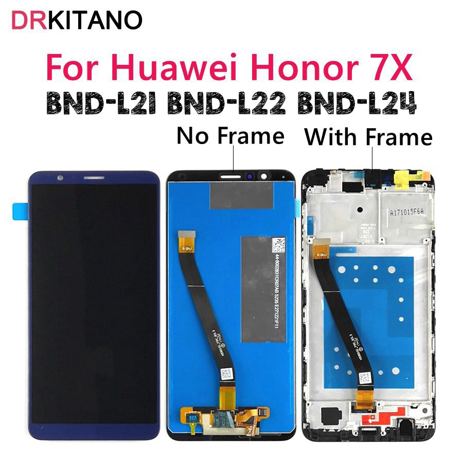 For Huawei Honor 7X LCD Display Touch Screen Digitizer With Frame BND-L21 BND-L22 BND-L24 Mobile Pho