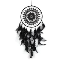 1pc new natural feather big lace dreamcatcher home crafts ornaments car decoration black garden wind chimes wall hangings