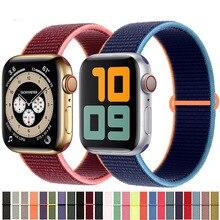 Nylon Strap for Apple watch band 44mm 40mm 42mm 38mm smartwatch wristband belt sport loop bracelet i