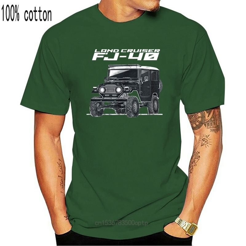 Fj40 Land Cruiser футболка Bj40 Off Road 2020 Весна приталенные мужские хипстерские Популярные топы с круглым вырезом Make My Own