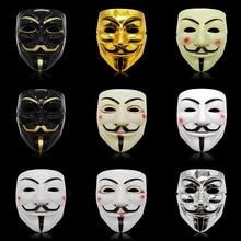 Cosplay de película V para Vendetta, máscara de Hacker Anonymous, Guy Fawkes, fiesta de Halloween y Navidad, regalo para adultos y niños, máscara temática de película