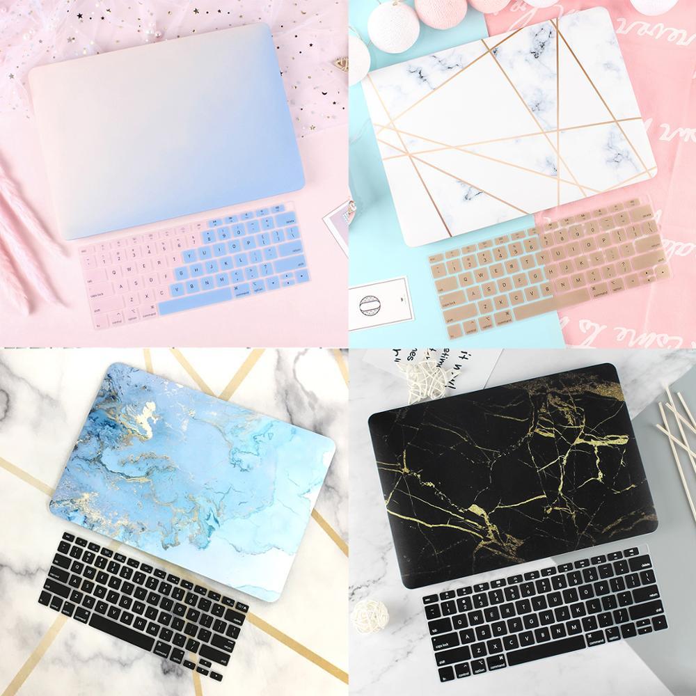 Прорезиненный матовый чехол для ноутбука Macbook Air 13 2020 Mac Book 2019 Retina Pro 13 15