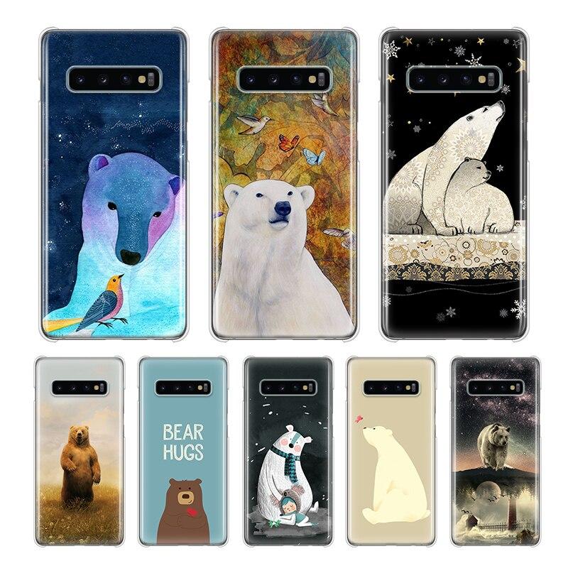 Polar resistente de oso funda para Samsung Galaxy S10e S10 S20 5G S9 S8 más S7 borde Nota 10 9 8 Plus 5 5G funda trasera