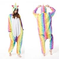 onesies adults women unicorn animal cartoon cosplay pajamas kigurumi romper winter stitch one piece sleepwear flannel costumes