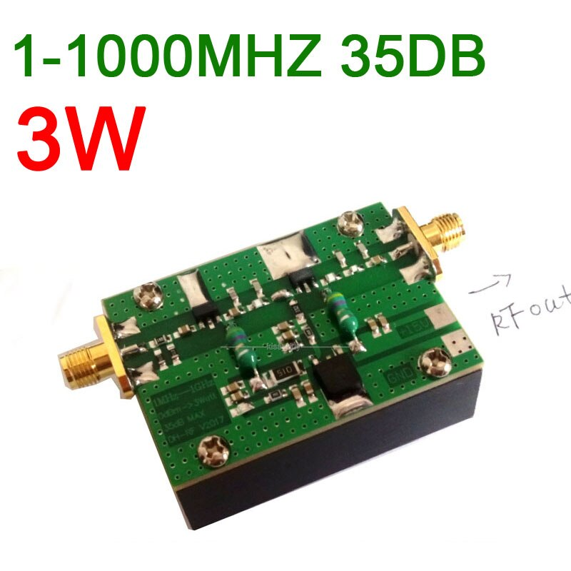 1MHZ-1000MHZ 35DB 3W RF Amplifier HF VHF UHF FM transmitter Broadband RF Power Amplifier F Ham Radio Walkie talkie Shortwave