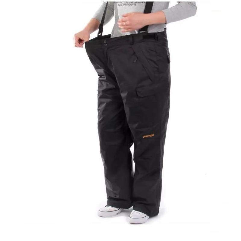 2021 Waterproof Large Ski Pants Fleece Liner Removable Winter Warm Trousers Mountaineering Ski Pant
