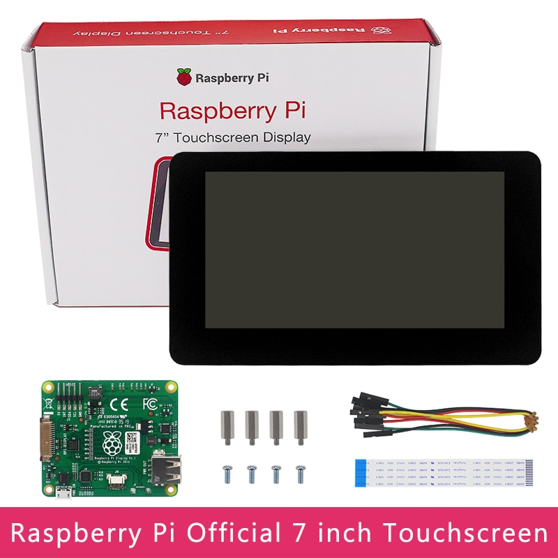 Original Official Raspberry Pi 7 inch Touchscreen Display 800x480 HD 24-bit Color LCD DSI Connect for Raspberry Pi 4B/3B+/Zero
